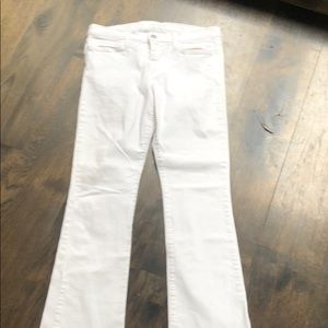 Joes white bootcut jeans